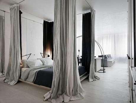 6. Combine as cores da decoração com a cama com dossel para ter um ambiente ainda mais personalizado – Por: Pinterest