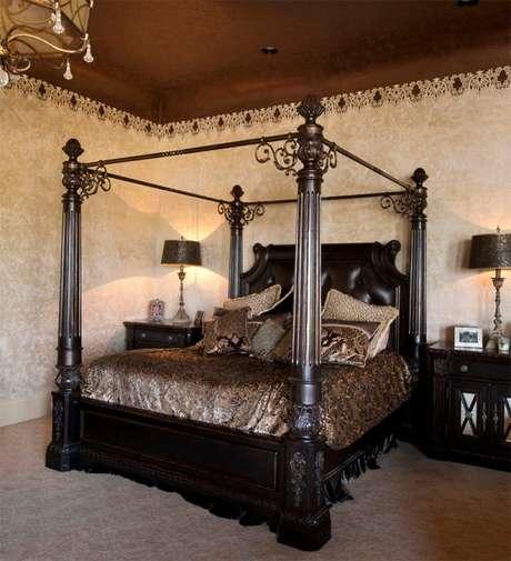 8. A estrutura de metal é uma das mais usadas para a cama com dossel, use ela de acordo com o ambiente que você deseja ter – Por: Rick Hoge