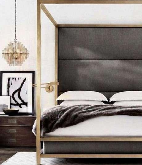 17. Para um ambiente minimalista, use a cama com dossel sem as cortinas – Por: Pinterest