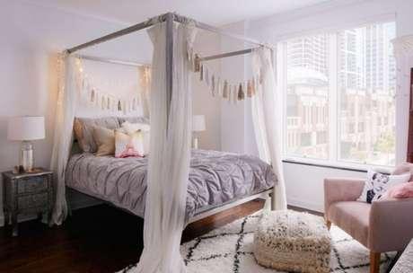 1. Veja como usar a cama com dossel na sua decoração! – Por: Casa Claudia