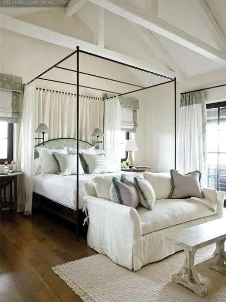 30. Que tal usar a cama com dossel para separar ambientes? – Por: Pinterest