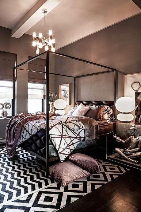4. Escolha as cores da sua cama com dossel para ter um ambiente super moderno – Por: ArqTeturas