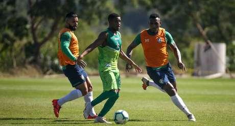 O Fluminense derrotou a Portuguesa-RJ por 2 a 1 em jogo-treino realizado no CT Pedro Antônio, no Rio de Janeiro