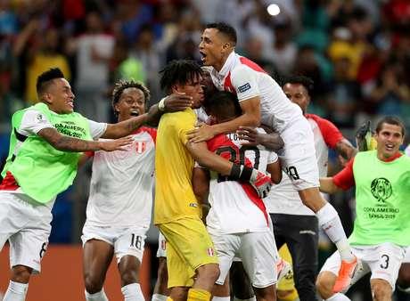 O Peru venceu o Uruguai pela última partida das quartas de final da Copa América