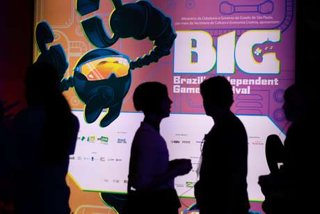 Movimentação durante o Big Festival, maior festival de jogos independentes da América Latina