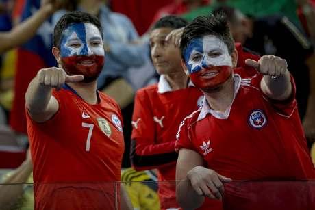 Torcida durante a partida entre Colômbia e Chile, válida pela Copa América 2019 na Arena Corinthians em São Paulo (SP)