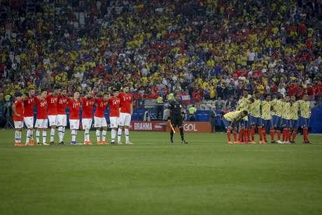 Lance durante a partida entre Colômbia e Chile, válida pela Copa América 2019 na Arena Corinthians em São Paulo (SP)