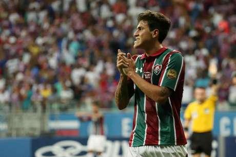 Pedro, jogador do Fluminense, durante a partida contra o Bahia, partida válida pela sexta rodada do Campeonato Brasileiro 2019