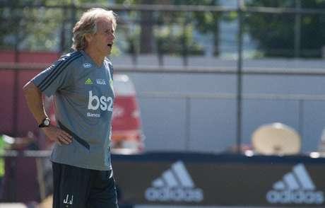 """Jorge Jesus """"estreou"""" no comando do Flamengo dm jogo-treino na Gávea (Foto: Alexandre Vidal/Flamengo)"""
