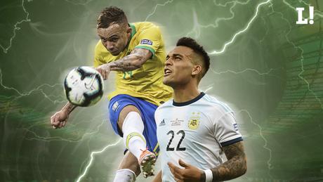 Everton e Lautaro Martínez são destaques do Brasil e Argentina na Copa América (Arte: Marina Cardoso/LANCE!)