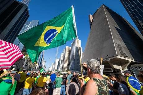 Na manifestação pró-Bolsonaro em São Paulo, o Movimento Brasil Livre (MBL) foi hostilizado