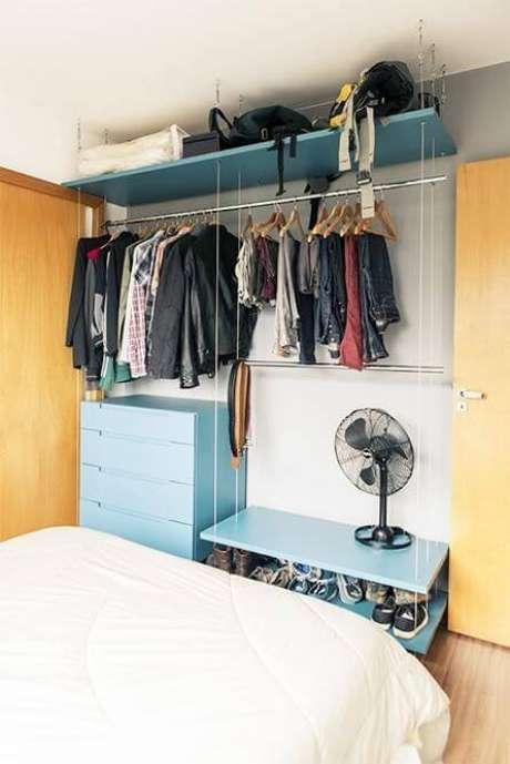 7. Modelos de guarda roupa com closet aramado e modulado – Por: Casa aberta