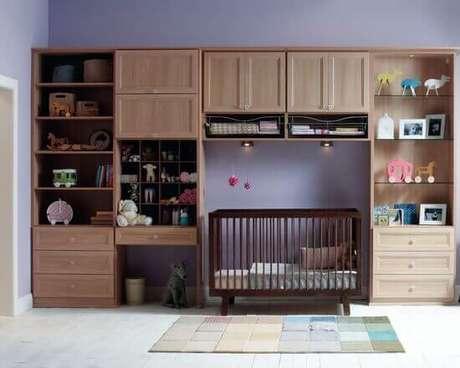 16. Modelos de guarda roupa infantil para quarto de bebê – Por: Pinterest