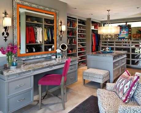 40. Modelos de guarda roupa para quartos coloridos – Por: Pinterest
