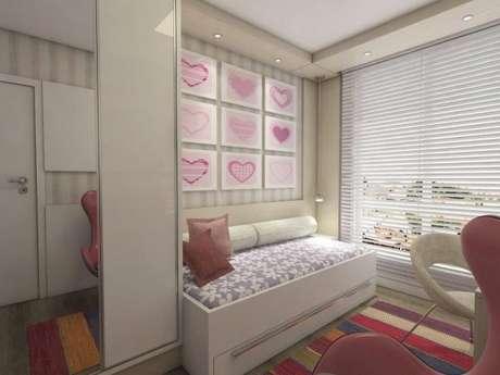 95. Modelos de guarda roupa para quartos de meninas na cor rosa – Por: Ednilson Him