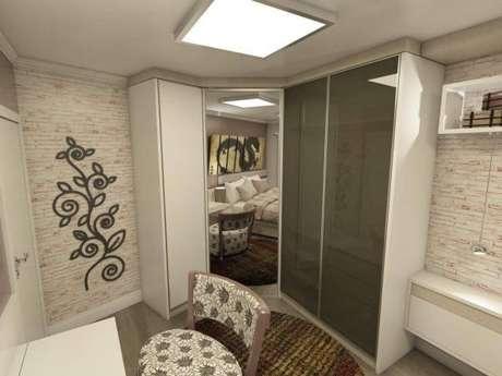 43. Modelos de guarda roupa em L para quartos pequenos – Por: Ednilson Him