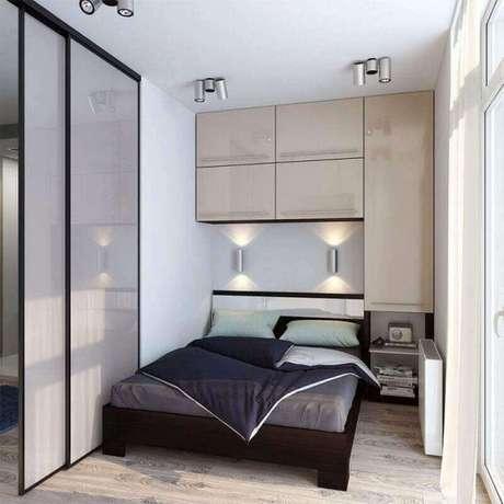 49. Modelos de guarda roupa para quarto pequeno – Por: Pinterest