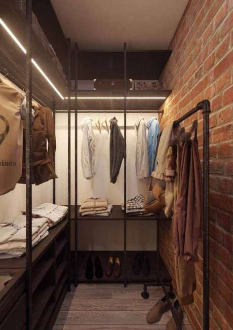 65. Modelos de guarda roupa para closet embutido e moderno – Por: Pinterest
