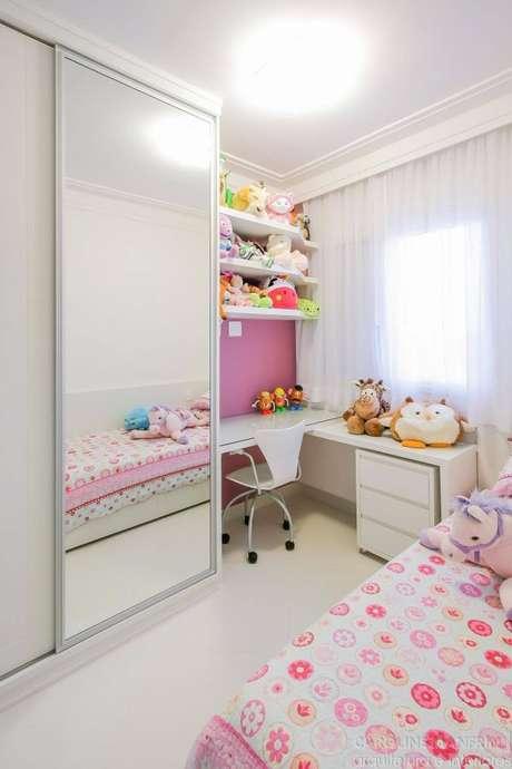 80. Modelos de guarda roupa para quarto infantil de menina – Por: Caroline Manfrin
