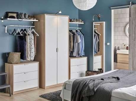 1. Modelos de guarda roupa modulado para quartos modernos – Por: Pinterest