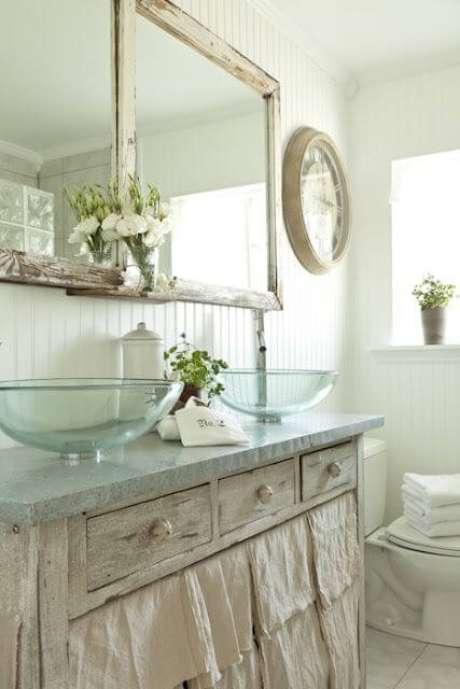 7. Cubas de vidro para banheiro de casal – Por: Cute Pink Stuff