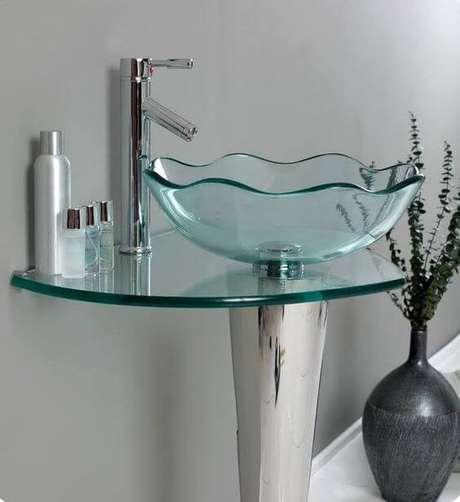 30. Cuba de vidro para banheiros modernos – Por: Construindo minha casa