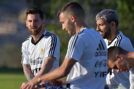 Leo Messi durante o treino da seleção da Argentina em Belo Horizonte (MG)