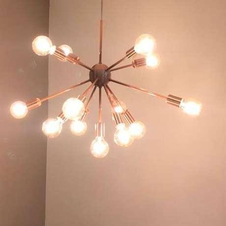 15. Alguns modelos de lustres são muito simples e são apenas receptáculos. Foto: Casa Center