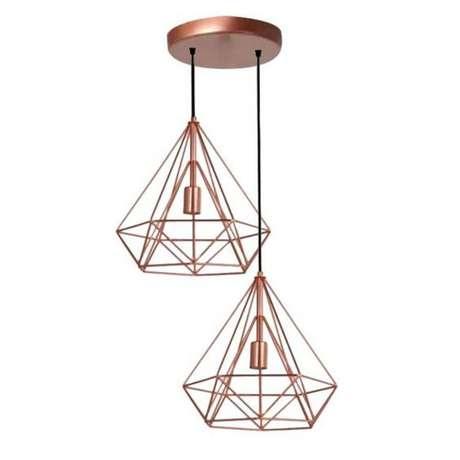 18. Modelos de lustres geométricos são típicos da decoração moderna. Foto: Americanas