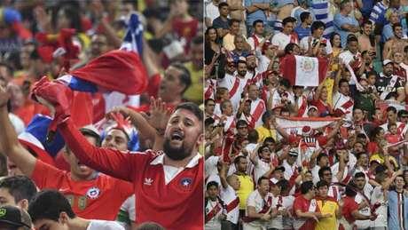 Chilenos e peruano protagonizam rivalidade histórica (AFP)
