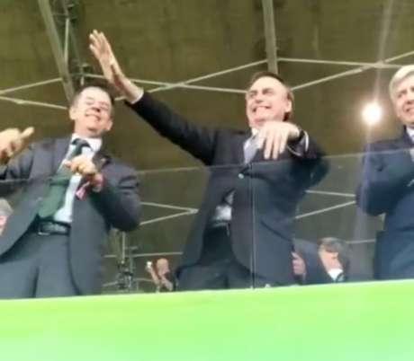 Bolsonaro teve recepção mista no Mineirão, com aplausos e vaias por parte da torcida mineira- (Reprodução)
