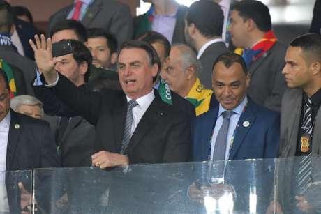 Presidente Jair Bolsonaro presente no estadio Mineirão em Brasil x Argentina, partida válida pela Semifinal da Copa da América 2019, em Belo Horizonte