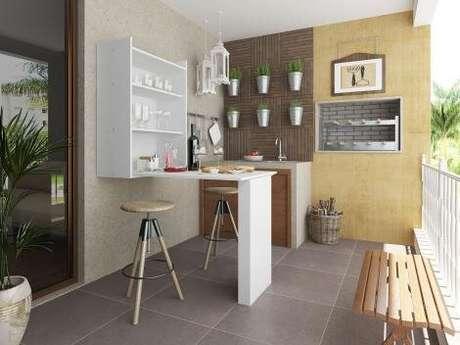 11. Mesa dobrável de parede para varanda gourmet