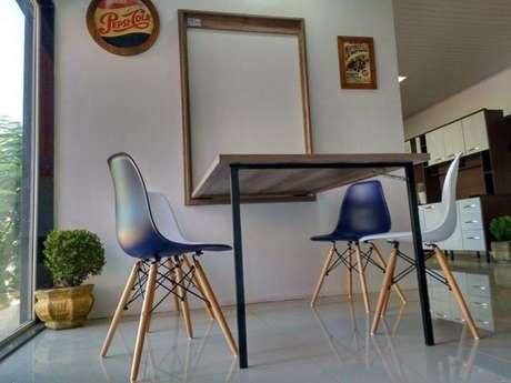 16. Mesa dobrável de parede para sala de jantar