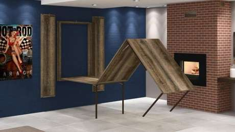 36. Mesa dobrável de parede para mesas grandes