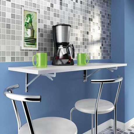 2. Mesa para cozinha com suporte dobrável para mesa de parede
