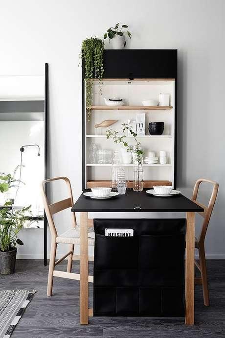 4. Que tal fazer uma mesa dobrável de parede que seja moderna para decorar a casa?