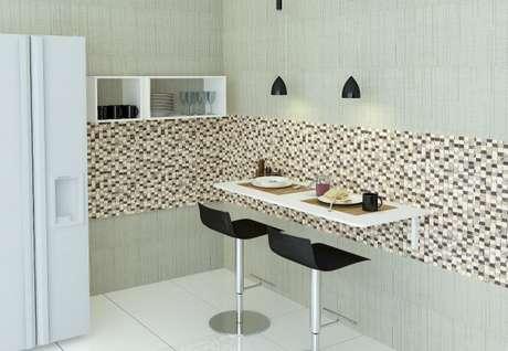 51. Projeto de mesa dobrável de parede