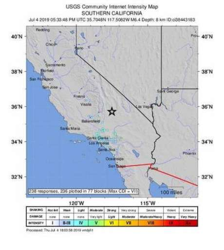 Forte terremoto provoca pânico no sul da Califórnia