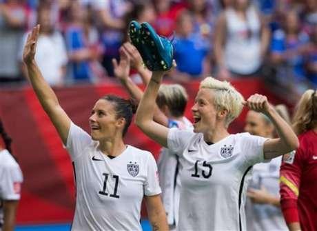 Ali Krieger e Megan Rapinoe fazem parceria de longa data na seleção dos Estados Unidos