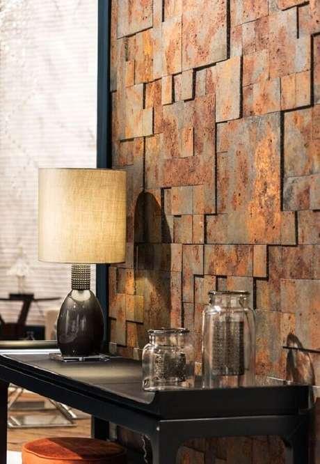 9. O revestimento pedra ferro garante um visual totalmente novo e moderno aos ambientes – Foto: Pinterest