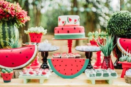 35. Festa da melancia para os temas de festa infantil Magali – Por: Italo Cesar