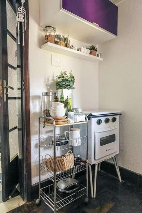 35. Eletrodomésticos para cozinha retrô são uma tendência. Projeto por: Casa Aberta