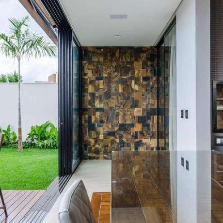 28. Decoração de casa com pedra ferro na entrada – Foto: Ágape Arquitetos Associados