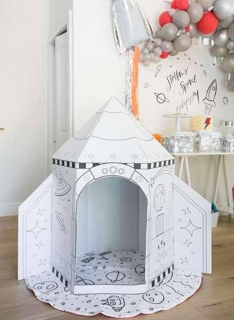 25. Temas de festa infantil com espaçonave para as crianças brincarem! – Por: Pinterest