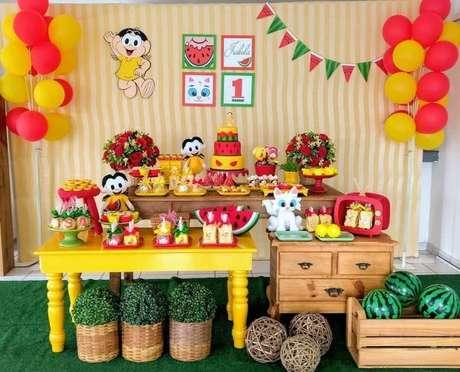 36. Temas de festa infantil com decoração amarela da Magali – Por: Pinterest