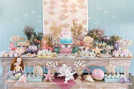 29. Temas de festa infantil sereia – Por: Pinterest