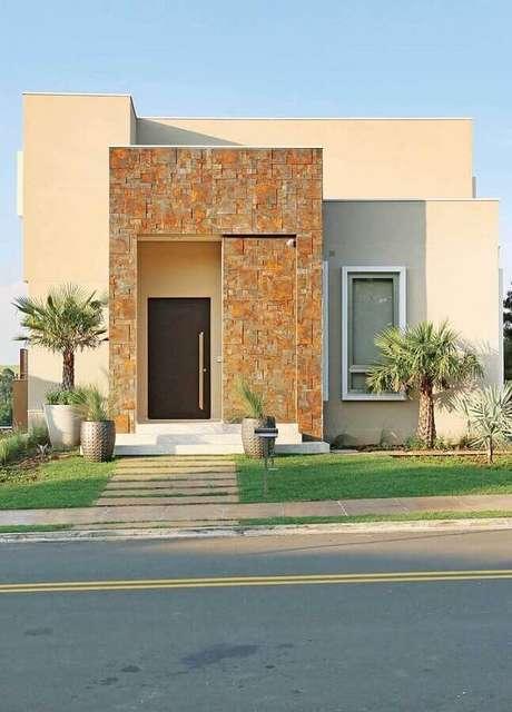 7. Invista em uma impermeabilização da fachada com pedra ferro assim que o revestimento for aplicado – Foto: Pinterest