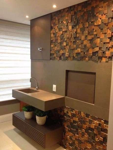 2. O revestimento pedra ferro pode ser usado em praticamente todos os ambientes da casa – Foto: Portfólio – Multipedras