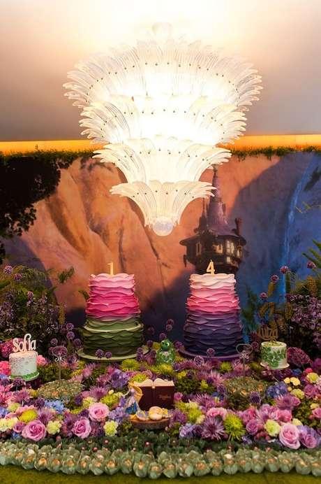 14. Temas de festa infantil da princesa Rapunzel – Por: La Nick Decor